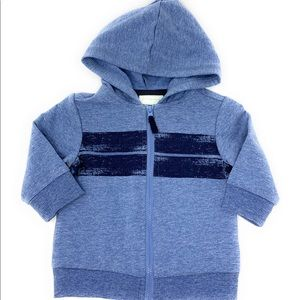 4/$25 First impressions boys blue hoodie 3-6 MO